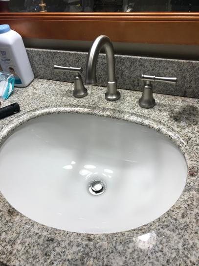Finished Installation of Delta Faucet.